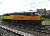 Colas Rail's 47739 passes Coatbridge Central on 0Z47 Hamilton to Cadder Yard return LE working on 11 May after delivering wagons for repair to the E G Steele depot. This is one of several such trips made by the locomotive that day.<br><br>[Ken Browne&nbsp;11/05/2011]