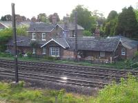 The former Station House and down side station building at Copmanthorpe, standing alongside the east coast main line to the south of York. Copmanthorpe lost its passenger service in January 1959.<br><br>[David Pesterfield 14/05/2011]