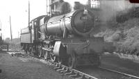 7801 <I>'Anthony Manor'</I> photographed on Aberystwyth shed in the summer of 1962.<br><br>[K A Gray&nbsp;14/08/1962]
