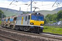 92026 <I>Britten</I> with the 6S51 Carlisle - Mossend Departmental train passing Abington on 30 May.<br> <br><br>[Bill Roberton&nbsp;30/05/2011]