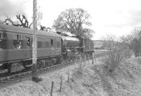 'Scottish Rambler no 2' photographed at Jedfoot on 14 April 1963 behind B1 4-6-0 no 61324 on its way to Jedburgh.<br><br>[K A Gray&nbsp;14/04/1963]