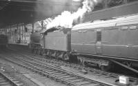 61942 runs into Newcastle Central on 22 July 1961 with a summer Saturday arrival from Scarborough.<br><br>[K A Gray&nbsp;22/07/1961]