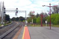 Ancient and modern - Vicrail main line looking to Melbourne in October 2010, with its reversible (and incomprehensible!) signalling, while to the right stands the somersault starting signal of the Victorian Goldfields Railway.<br><br>[Colin Miller&nbsp;05/10/2010]