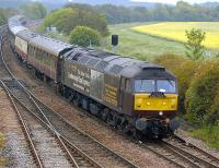 SRPS excursion bound for Yorkshire [see image 34458] passes Inverkeithing East Junction on 11 June behind WCRC 47826. Sister locomotive 47804 was on the rear of the train.<br><br>[Bill Roberton&nbsp;11/06/2011]