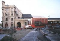 Manchester Victoria gets a new hole in the wall - for trams - October 1990.<br><br>[Ian Dinmore&nbsp;10/10/1990]