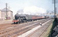 A3 Pacific no 60098 <I>'Spion Kop'</I> is about to turn north at Saughton Junction on the last day of July 1959 and head for The Forth Bridge.<br><br>[A Snapper (Courtesy Bruce McCartney)&nbsp;31/07/1959]
