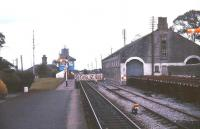 Looking towards the level crossing from the platform at Athenry in July 1988.<br><br>[Ian Dinmore&nbsp;/07/1988]