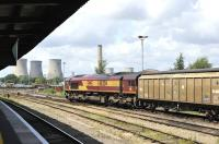 EWS 66204 has just drawn to a halt in Didcot Yard with a freight on the afternoon of 16 June.<br><br>[Peter Todd 16/06/2011]