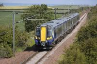 380 103 near Dirleton on 20 June with the 11.26 North Berwick - Edinburgh Waverley.<br> <br><br>[Bill Roberton&nbsp;20/06/2011]