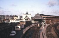 Holyhead station and ferry in October 1986.<br><br>[Ian Dinmore&nbsp;/10/1986]