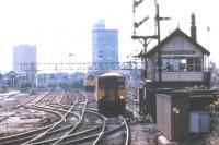 Scene looking west at Miles Platting on 19 September 1987.<br><br>[Ian Dinmore&nbsp;19/09/1987]