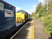 37059 with a late in the season weed killing train at Brundall in September 2009. <br><br>[Ian Dinmore&nbsp;12/09/2009]