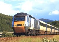 The <I>East Coast</I> Kings Cross - Inverness <I>'Highland Chieftain'</I> HST heading north near Dunkeld on 30 June 2011.<br><br>[Brian Forbes&nbsp;30/06/2011]