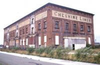 The abandoned former Joint Lines goods warehouse at Warrington Central in August 1988. Fortunately, all was not lost [see image 27985].<br><br>[Ian Dinmore&nbsp;/08/1988]