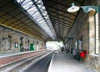 View north through Pickering station on 26 June 2011 showing the recently constructed overall roof. For the previous arrangement [see image 30915].<br><br>[John Furnevel&nbsp;26/06/2011]