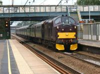 With 37685 leading and 57001 on the rear, the <I>Royal Scotsman</I> Grand Tour of Great Britain 2011 heads south through Leyland en route to Chester on 10 July 2011. <br> <br><br>[John McIntyre&nbsp;10/07/2011]