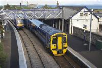170 456 and 158 786 pass at Burntisland on 11 July.<br> <br><br>[Bill Roberton&nbsp;11/07/2011]