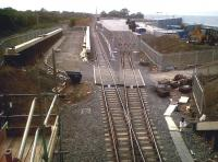 Progress on the expansion at Daventry International Railfreight Terminal on 4 July 2011 looking towards Rugby. A lot more detail work since my last visit [see image 34184]<br><br>[Ken Strachan&nbsp;04/07/2011]