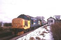 37417 photographed with a train at Lentran (closed June 1960) on a cold day in March 1986.<br><br>[Ian Dinmore&nbsp;/03/1986]