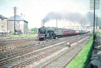 A2 Pacific no 60528 <I>Tudor Minstrel</I> about to turn north towards the Forth Bridge at Saughton Junction on 23 June 1958 with a train for Aberdeen.<br><br>[A Snapper (Courtesy Bruce McCartney)&nbsp;23/06/1958]