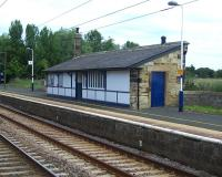 The up platform building at Acklington, Northumberland on 19 July 2011. One of the quieter stations on the ECML, Acklington is currently served by 1 northbound and 2 southbound trains a day [see image 3007]. <br><br>[Colin Alexander&nbsp;19/07/2011]