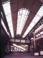 A section of Lewes station interior and roof in November 1988. Part of the <I>'Runaway Cafe'</I> can be seen on the extreme right.<br><br>[Ian Dinmore&nbsp;/11/1988]