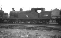 Thrice condemned Robinson C13 4-4-2T no 67413, withdrawn from Chester Northgate shed at the end of 1957 and seen here prior to cutting up at Gorton Works in July 1958.<br><br>[Robin Barbour Collection (Courtesy Bruce McCartney)&nbsp;27/09/1958]