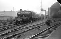 Ivatt 2-6-0 no 46400 with a freight at the east end of Newcastle Central in June 1958.<br><br>[Robin Barbour Collection (Courtesy Bruce McCartney)&nbsp;07/06/1958]