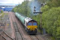 66198 passes Fouldubs Junction up home signal with the 6D18 to Mossend on 21 July.<br> <br><br>[Bill Roberton&nbsp;21/07/2011]