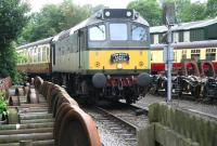 D7628 seen shortly after leaving Pickering station on 30 June with the <I>'Yorkshire Coast Express'</I>, destination Whitby.<br><br>[John Furnevel&nbsp;30/06/2011]