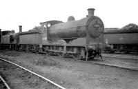 A busy shed yard at Seafield on 22 November 1959, with Reid J35 0-6-0 no 64489 centre stage.