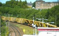 Track panels at Hyndland, Sunday 24 July 2011.<br><br>[Veronica Clibbery&nbsp;24/07/2011]