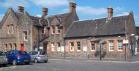 Forecourt of the 1847 station at Lockerbie, photographed on 3 August 2011.<br><br>[Andrew Wilson&nbsp;03/08/2011]