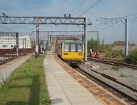 A Rose Hill bound service, formed by Pacer 142005, hurries through Ardwick in East Manchester, as do most trains on this busy line. In the 2011 timetable four Manchester bound trains are scheduled to call here in a morning and two Marple line services in the evening (Mon to Fri only). The station was recently proposed for closure but reprieved as it is in a development area and more traffic is possible in the future.<br><br>[Mark Bartlett&nbsp;03/08/2011]