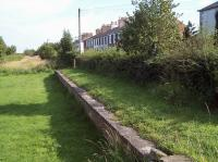 Platform remains at Port Carlisle station (closed to passengers in June 1932), photographed on 3 August 2011. [See image 22515]<br><br>[Colin Alexander&nbsp;03/08/2011]