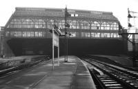 Just a few months after its September 1965 closure and the only thing missing from Edinburgh's Princes Street station is trains.<br> <br><br>[David Spaven&nbsp;//1965]