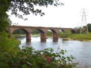 The grade 2 listed Waverley Viaduct that carried the Border Union Railway over the River Eden at Carlisle (also referred to as Eden Viaduct, Canal Viaduct and Waverley Bridge amongst others) photographed on 3 August 2011.<br><br>[Colin Alexander&nbsp;03/08/2011]
