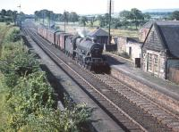 Jubilee 45728 <I>Defiance</I> heads north through Lochside with a freight in the summer of 1959.<br><br>[A Snapper (Courtesy Bruce McCartney)&nbsp;22/08/1959]