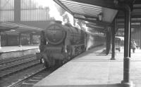 Rebuilt Patriot no 45527 <I>'Southport'</I> stands at Carlisle platform 3 on 29 February 1964, having just taken over the 9.25am Crewe - Perth train.<br><br>[K A Gray&nbsp;29/02/1964]