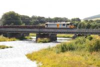EWS 92036 <I>'Bertolt Brecht'</I> crossing the Clyde at Lamington in August 2009 with a northbound freight.<br><br>[John Furnevel&nbsp;05/08/2009]