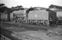 Schools class 4-4-0 no 30911 <I>'Dover'</I> on shed at Nine Elms in October 1959.<br><br>[K A Gray&nbsp;03/10/1959]