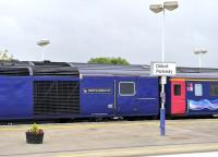 Platform scene at Didcot on 11 August 2011, with a name from the distant past now carried on the side of an HST! [With acknowledgement to the achievments of railway pioneer Richard Trevithick 1771-1833]<br><br>[Peter Todd 11/08/2011]