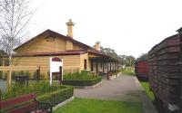 The preserved station at Trentham, Victoria, on the branch to Daylesford from Carlsruhe on the Melbourne to Bendigo main line. The Daylesford Spa Country Railway operates from Daylesford to Bullarto but has plans to extend back to Trentham. There is no operable track beyond the station limits at the moment.<br><br>[Colin Miller&nbsp;//]