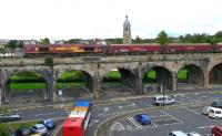DBS 66131 crosses Kilmarnock Viaduct with 4S84 Milford to Greenburn empty hoppers on 17 August. It will shortly run round in the Long Lyes before returning south to reach its destination.<br><br>[Ken Browne&nbsp;17/08/2011]