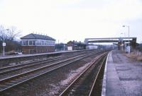 Last days at Tiverton Junction in April 1986. The station, opened by the Bristol and Exeter Railway in 1844, finally closed to passengers the following month, coincident with the opening of Tiverton Parkway. [See image 35390]<br><br>[Ian Dinmore&nbsp;/04/1986]