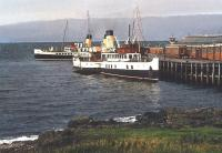 Scene at Wemyss Bay on 12 September 1957. DEPV <I>Talisman</I> is nearest the camera with PS <I>Jupiter</I> beyond.<br><br>[A Snapper (Courtesy Bruce McCartney)&nbsp;12/09/1957]