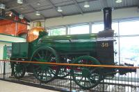 Engine Number 36 stuffed and mounted on the concourse at Cork station in May 2008. The locomotive was built in 1847 by Bury, Curtiss and Kennedy in Liverpool and used by the Great Southern and Western Railway on Dublin - Cork services.<br> <br><br>[Colin Miller&nbsp;22/05/2008]
