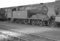 A5 4-6-2T no 69820 photographed on Lincoln shed around 1959 with J39 no 64726 to the left. Both locomotives were officially withdrawn by BR in November of that year. [With thanks to Messrs Geddes, Purves, Ferris & Smith].<br><br>[K A Gray&nbsp;//1959]