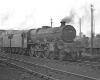 Jubilee no 45588 <I>Kashmir</I> stands on Upperby shed on 3 June 1960.<br><br>[K A Gray&nbsp;/06/1960]