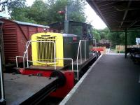 Motive power on the nascent New S&D comprised this industrial shunter on 29th May 2011. The railway staff cheerfully admitted that its TOPS number was fictitious!<br><br>[Ken Strachan 29/05/2011]